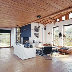 living room in cabin rental