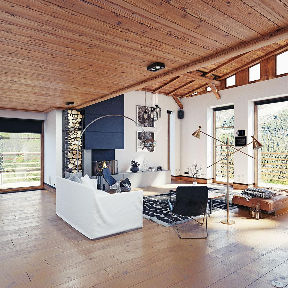 living room of a cabin rental