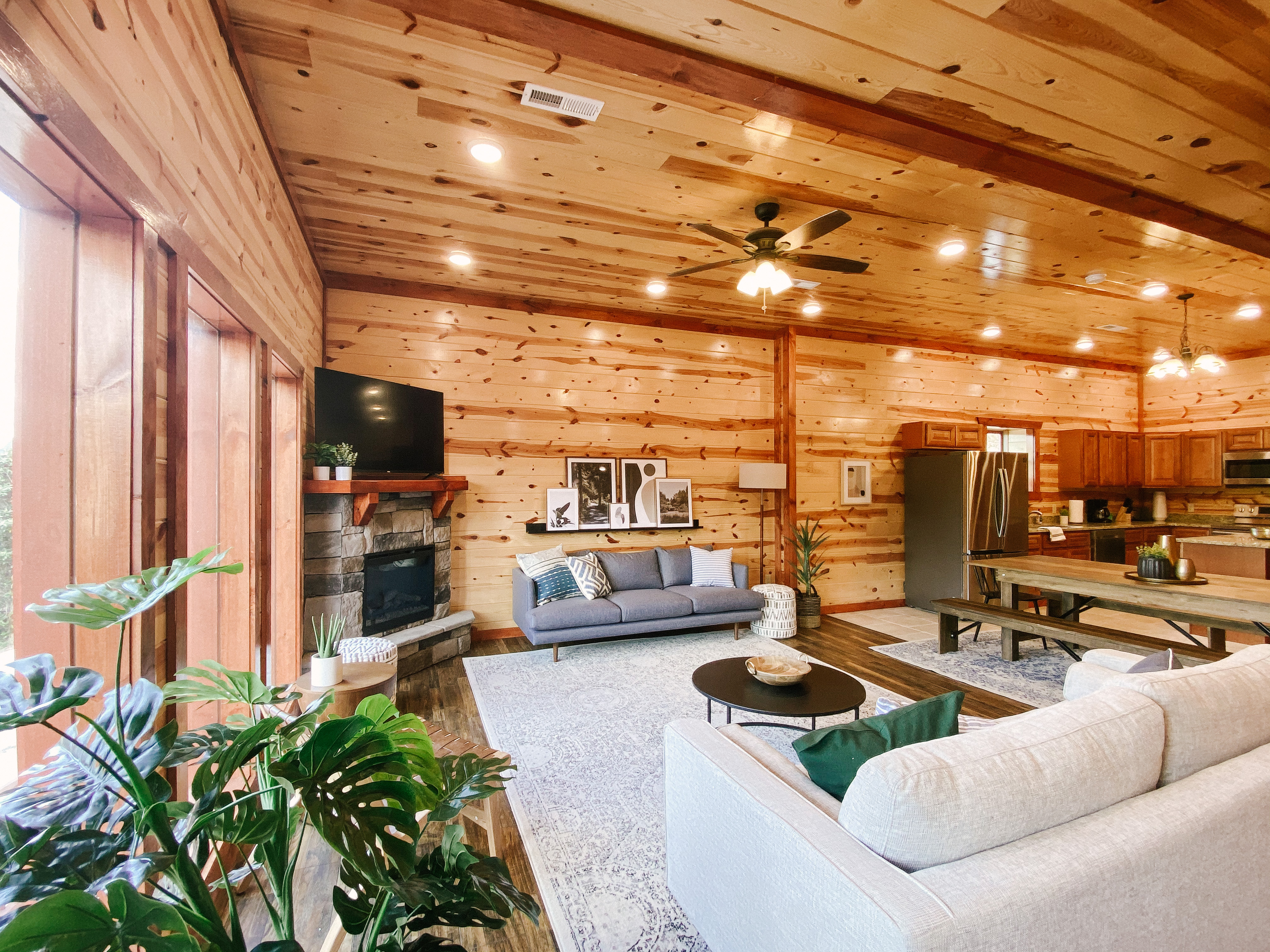 cabin rental living room